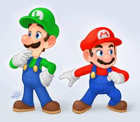 Mario Bros. by LuigiL