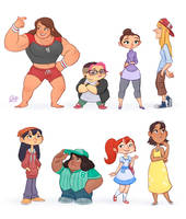 Random Characters 2 by LuigiL