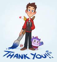 5K Instagram Thank You by LuigiL
