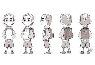 Cool Kid Turn Around sketch by LuigiL