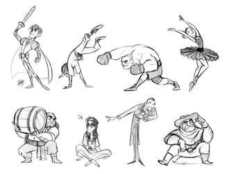 Gestures 1 by LuigiL