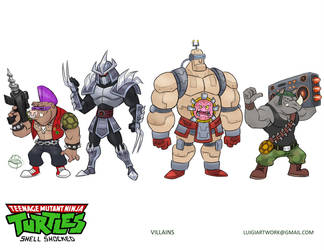 TMNT villains by LuigiL