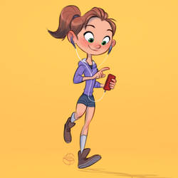 Jogger Girl by LuigiL