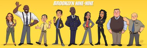 Brooklyn Nine Nine Line Up by LuigiL