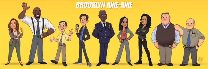 Brooklyn Nine Nine Line Up by LuigiL