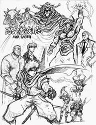 Ninja GAIDEN Sketch by Hellstinger64