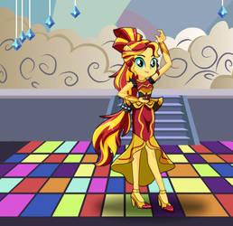 Equestria Girls Dance Magic Sunset Shimmer by kimpossiblelove