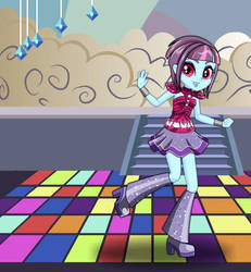 Equestria Girls Dance Magic Sunny Flare by kimpossiblelove