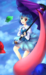 Touhou UFO : Kogasa Tatara (+SPEEDPAINT) by Metyuu