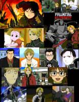Fullmetal Alchemist Collage by Kawaiilittlepuppy