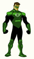 green lantern animated by CHUBETO