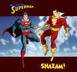 SUPERMAN SHAZAM by CHUBETO