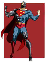 CYBORG SUPERMAN ANIMATED by CHUBETO