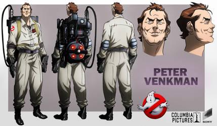 Peter Venkman animated by CHUBETO