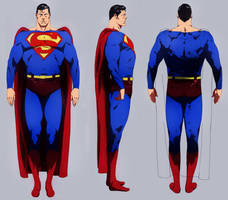 Superman Model sheet by CHUBETO