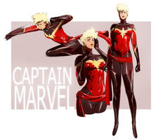 Captain Marvel Commission by CHUBETO