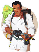 Winston and Slimer by CHUBETO