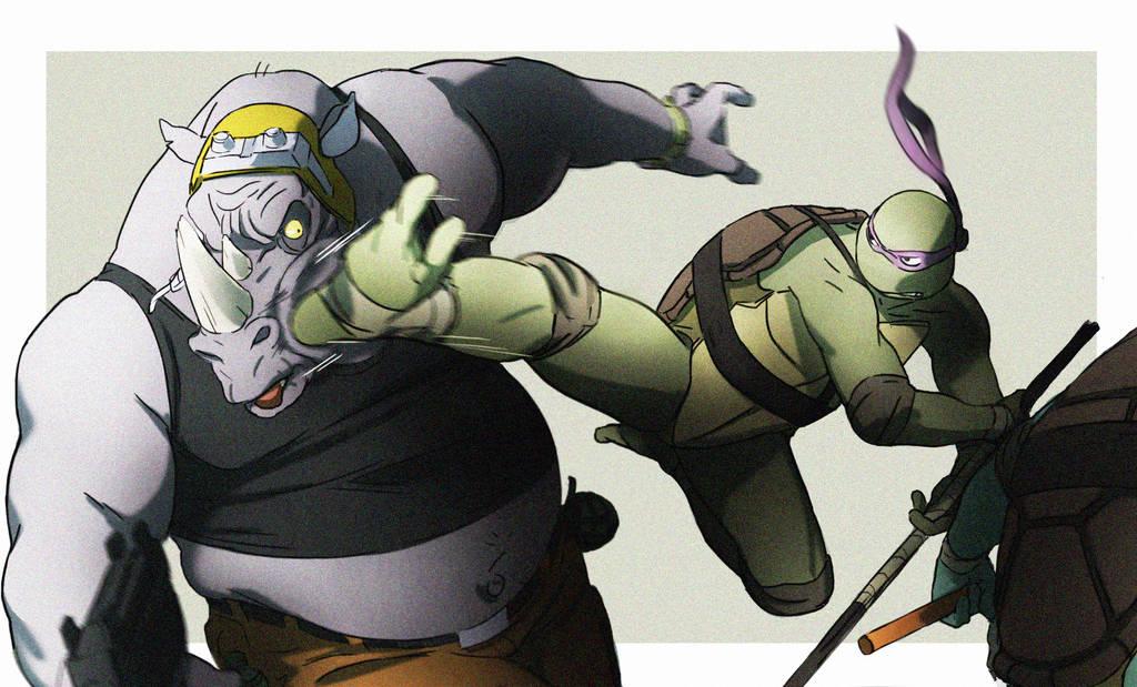 Donnie and Rocksteady by CHUBETO