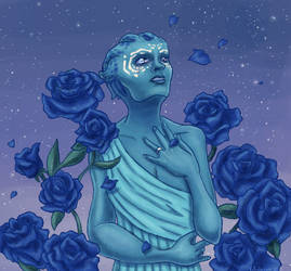 Blue rose of Illium by Miss-Arcadia