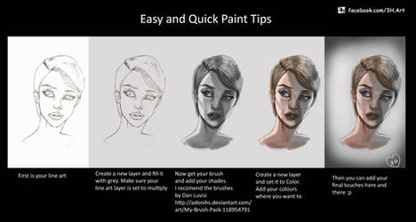 Photoshop: Easy and Quick Color Tips for learners by toziren