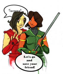 Sareena and Jade by hashhaha