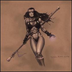 Sorceress- Diablo 3 fan art by TepesArt