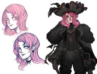 Sketches. Pirate Cora by AShiori-chan