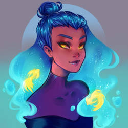 Draw this in your style. DestinyBlue by AShiori-chan