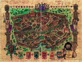 Baldur's Gate City Map - Whole by Shade-os