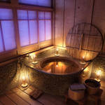 Bathroom scene - Night time by mrhahn98