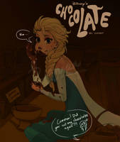 Ahh~~ its just Elsa and her Chocolate... by ziqman