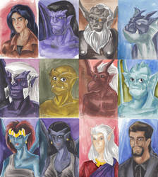 Gargoyles group picture by WaldelfLarian