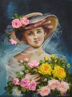 La belle Aux fleur embroidered by Lubna-fatiha