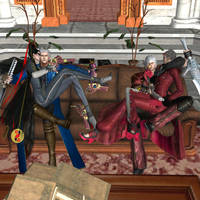 Devil May Cry vs Bayonetta by RyuAensland