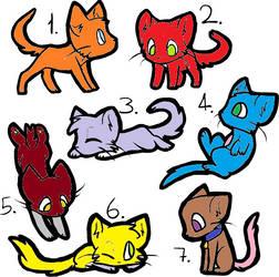 Cat Adopts Batch 1 by UniversesCollideInc