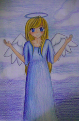 Anime Angel Girl by BlissfulCalamity