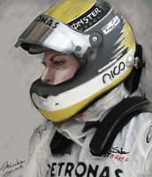 F1 Nico Rosberg by shizukayan