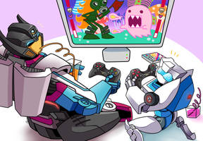 Buddies Game Night by Evelynism