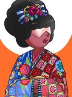Garnet in Kimono by Evelynism