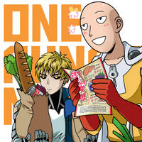 One Punch Man: Saitama and Genos by Evelynism