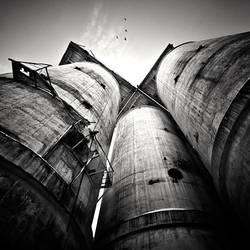 Factory chimneys by anoxado