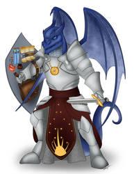 Dragonborn Paladin by Akamar