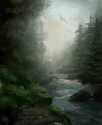 environment - forest by MeganMissfit
