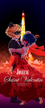 Joyeuse Saint-Valentin - Ladybug x Chat Noir by MariaAuroraRodriguez