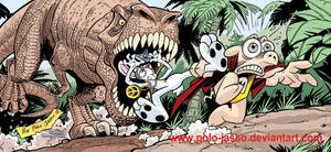 Cerdotado, Rolando y un T-Rex by POLO-JASSO
