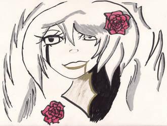 Skizze rote Rosen schwarze Traenen by MOONFIGHT
