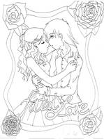 Fated Love- lineart by SpiritGoddessTamiko