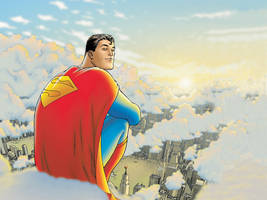 All-Star Superman Wallpapered by x-odin