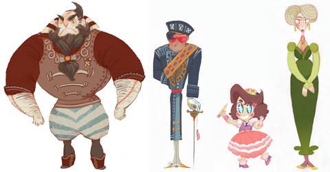Character Line Up by bigeyeddragyn