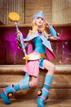 Dark Magician Girl - Pink Fountain by MeganCoffey